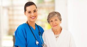 ElderCare at Home Caregiver with Patient
