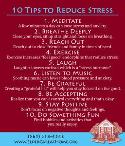 10 Tips to Reduce Stress