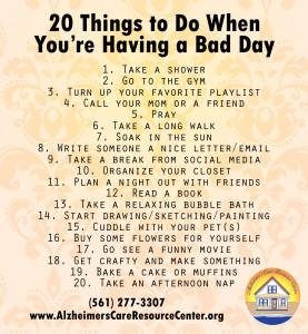 20 Things to Do When You're Having a Bad Day