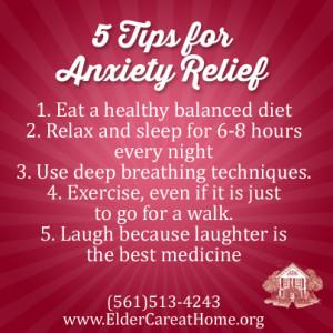 5 Tips for Anxiety Relief
