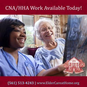 CNA HHA work available today