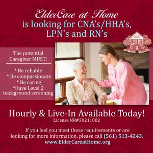 ECH is looking for caregivers