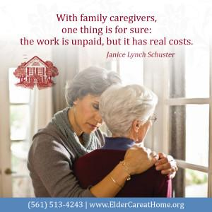 With family caregivers