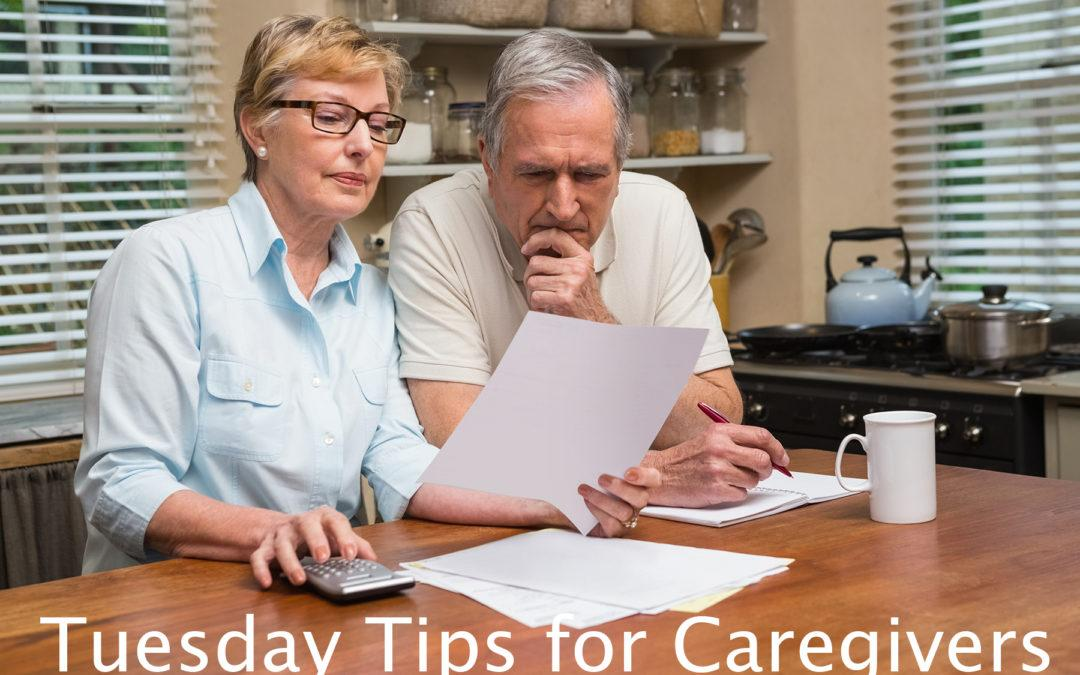Tuesday Tips for Caregivers – 10 Ways to Afford the Care You Need